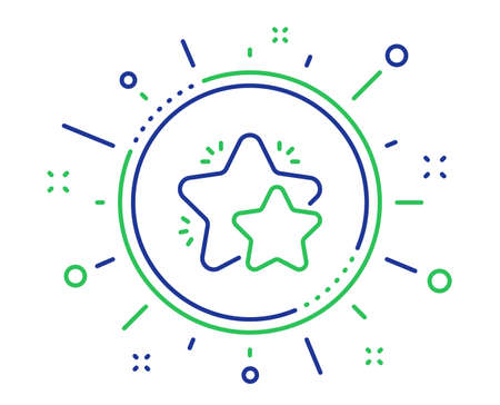 Star line icon. Feedback rating sign. Customer satisfaction symbol. Quality design elements. Technology star button. Editable stroke. Vector 向量圖像