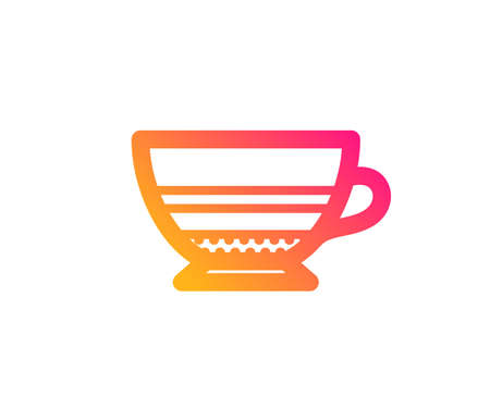 Mocha coffee icon. Hot drink sign. Beverage symbol. Classic flat style. Gradient mocha icon. Vector