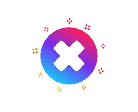Delete icon. Remove sign. Cancel or Close symbol. Dynamic shapes. Gradient design close button icon. Classic style. Vector