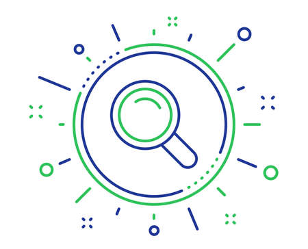 Search line icon. Magnifying glass sign. Enlarge tool symbol. Quality design elements. Technology search button. Editable stroke. Vector