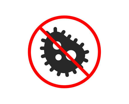 No or Stop. Bacteria icon. Antibacterial sign. Dirty symbol. Prohibited ban stop symbol. No bacteria icon. Vector Illustration