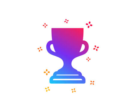 Award cup icon. Winner Trophy symbol. Sports achievement sign. Dynamic shapes. Gradient design award cup icon. Classic style. Vector