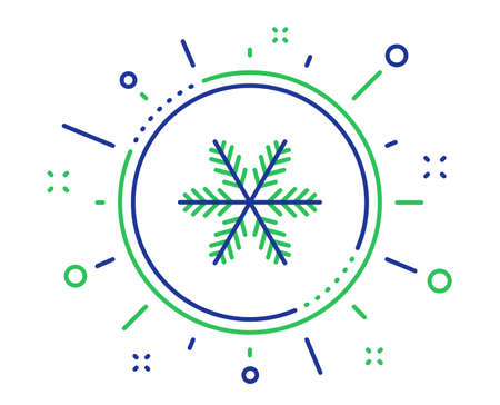 Snowflake line icon. Christmas snow sign. Winter or cold symbol. Quality design elements. Technology snowflake button. Editable stroke. Vector Ilustrace
