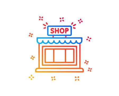 Shop line icon. Store symbol. Shopping building sign. Gradient design elements. Linear shop icon. Random shapes. Vector Stockfoto - 121801186