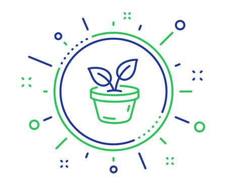 Icono de línea de hojas. Crecer el signo de la hoja de la planta. Símbolo de cuidado del medio ambiente. Elementos de diseño de calidad. Botón de hojas de tecnología. Trazo editable. Vector