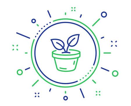 Liniensymbol verlässt. Pflanzenblattzeichen wachsen lassen. Umweltschutzsymbol. Hochwertige Designelemente. Technologie verlässt den Knopf. Bearbeitbarer Strich. Vektor