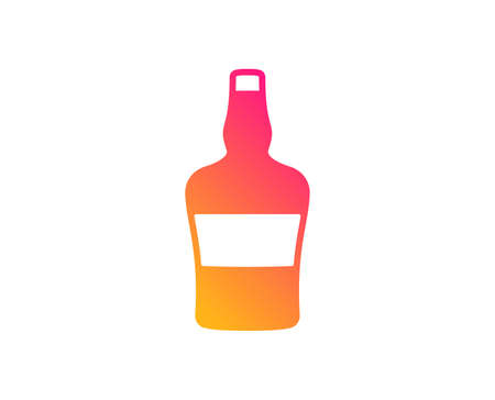 bottle icon. Brandy alcohol sign. Classic flat style. Gradient bottle icon. Vector  イラスト・ベクター素材