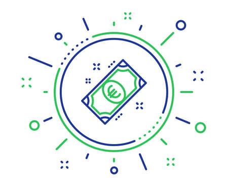 Euro money line icon. Payment method sign. Eur symbol. Quality design elements. Technology euro money button. Editable stroke. Vector