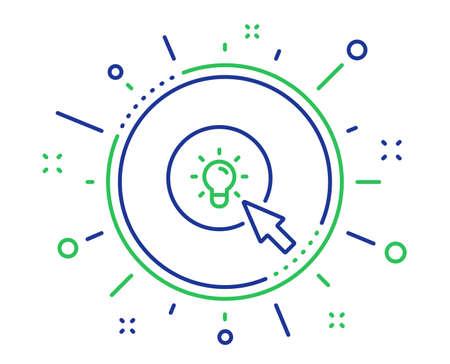 Idea lamp line icon. Mouse cursor sign. Light bulb symbol. Quality design elements. Technology energy button. Editable stroke. Vector Illustration