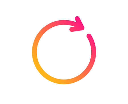 Refresh icon. Rotation arrow sign. Reset or Reload symbol. Classic flat style. Gradient synchronize icon. Vector Ilustração