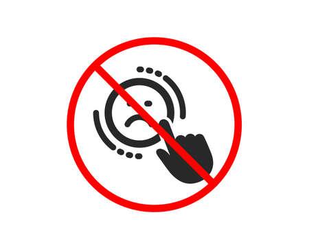 No or Stop. Dislike icon. Negative feedback rating sign. Customer satisfaction symbol. Prohibited ban stop symbol. No dislike icon. Vector