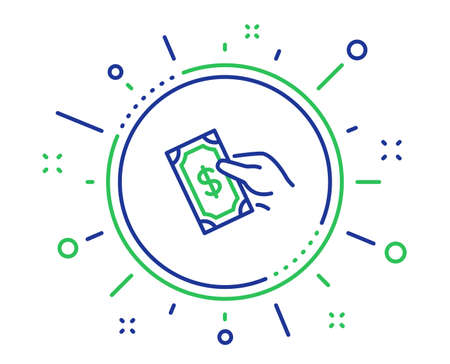 Payment line icon. Dollar exchange sign. Finance symbol. Quality design elements. Technology pay money button. Editable stroke. Vector