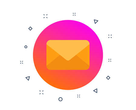 Mail icon. E-mail or Envelope sign. Send message symbol. Newsletter mail. Post office correspondence. Read message. Random dynamic shapes. Gradient mail message button. Vector Stockfoto - 122772514