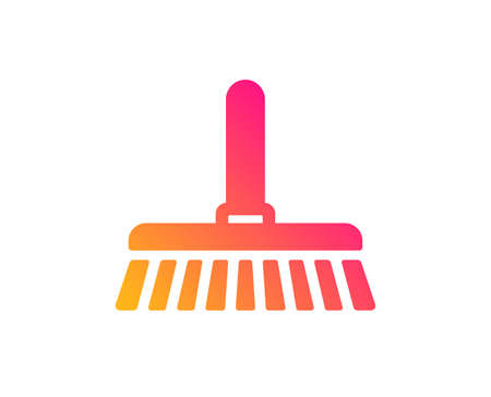 Cleaning mop icon. Sweep or Wash a floor symbol. Washing Housekeeping equipment sign. Classic flat style. Gradient cleaning mop icon. Vector Illustration