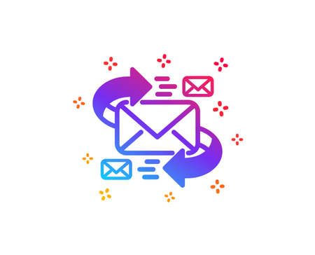 Mail icon. Communication by letters symbol. E-mail chat sign. Dynamic shapes. Gradient design e-Mail icon. Classic style. Vector