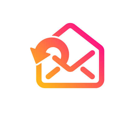 Send Mail download icon. Sent Messages correspondence sign. E-mail symbol. Classic flat style. Gradient send Mail icon. Vector