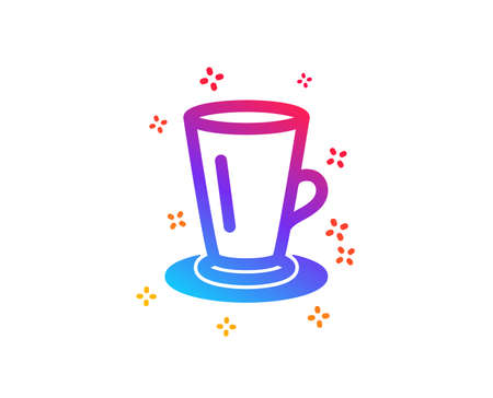 Cup of Tea icon. Fresh beverage sign. Latte or Coffee symbol. Dynamic shapes. Gradient design teacup icon. Classic style. Vector