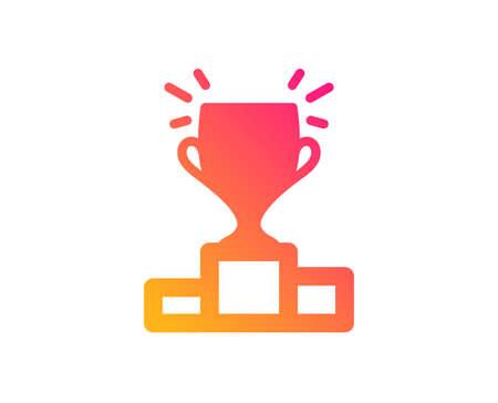 Winner podium icon. Sports Trophy symbol. Championship achievement sign. Classic flat style. Gradient winner podium icon. Vector