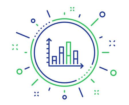 Diagram graph line icon. Column chart sign. Market analytics symbol. Quality design elements. Technology diagram graph button. Editable stroke. Vector