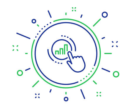 Statistics line icon. Column chart sign. Growth graph diagram symbol. Quality design elements. Technology graph chart button. Editable stroke. Vector Illustration