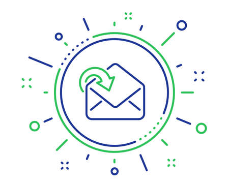Receive Mail download line icon. Incoming Messages correspondence sign. E-mail symbol. Quality design elements. Technology receive Mail button. Editable stroke. Vector Иллюстрация