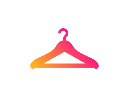 Cloakroom icon. Hanger wardrobe sign. Clothes service symbol. Classic flat style. Gradient cloakroom icon. Vector