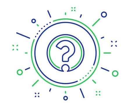 Ikona linii znaku zapytania. Wsparcie pomocy znak. Symbol FAQ. Elementy projektu wysokiej jakości. Przycisk ze znakiem zapytania technologii. Obrys edytowalny. Wektor Ilustracje wektorowe