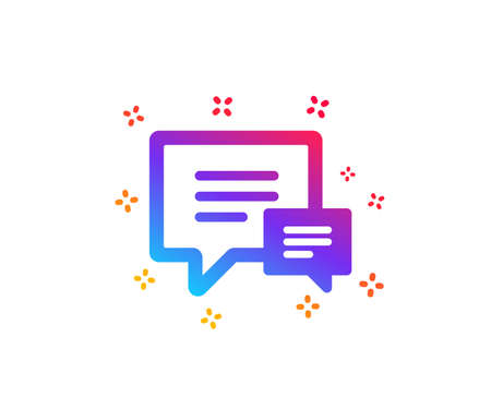 Chat icon. Speech bubble sign. Communication or Comment symbol. Dynamic shapes. Gradient design comment icon. Classic style. Vector