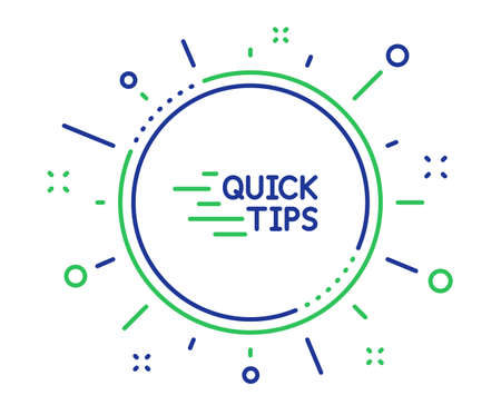 Quick tips line icon. Helpful tricks sign. Tutorials symbol. Quality design elements. Technology education button. Editable stroke. Vector