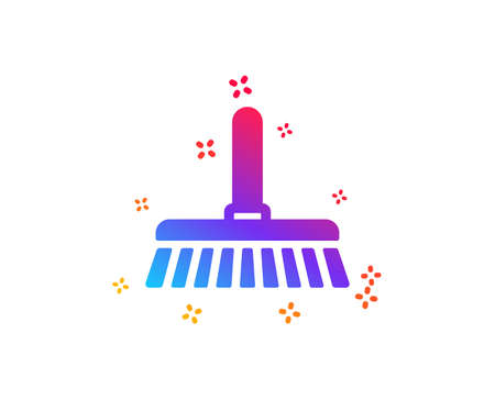 Cleaning mop icon. Sweep or Wash a floor symbol. Washing Housekeeping equipment sign. Dynamic shapes. Gradient design cleaning mop icon. Classic style. Vector