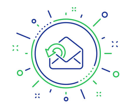 Send Mail download line icon. Sent Messages correspondence sign. E-mail symbol. Quality design elements. Technology send Mail button. Editable stroke. Vector