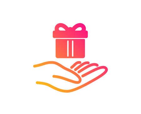 Loyalty program icon. Gift box sign. Present symbol. Classic flat style. Gradient loyalty program icon. Vector