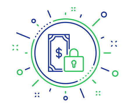 Private payment line icon. Dollar sign. Finance symbol. Quality design elements. Technology private payment button. Editable stroke. Vector
