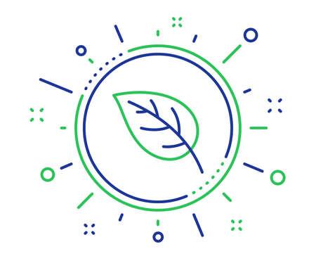 Leaf line icon. Nature plant sign. Environmental care symbol. Quality design elements. Technology leaf button. Editable stroke. Vector Illustration