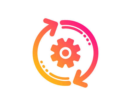 Cogwheel icon. Engineering tool sign. Cog gear, refresh settings symbol. Classic flat style. Gradient cogwheel icon. Vector