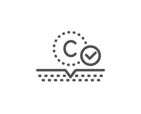 Collagen skin line icon. Cream care sign. Cosmetic lotion symbol. Quality design element. Linear style collagen skin icon. Editable stroke. Vector