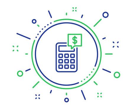 Calculator line icon. Accounting sign. Calculate finance symbol. Quality design elements. Technology calculator button. Editable stroke. Vector 일러스트