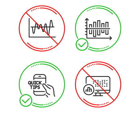 Do or Stop. Education, Diagram chart and Stock analysis icons simple set. Report statistics sign. Quick tips, Presentation graph, Business trade. Graph chart. Science set. Line education do icon
