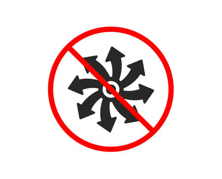 No or Stop. Versatile icon. Multifunction sign. Prohibited ban stop symbol. No versatile icon. Vector 向量圖像