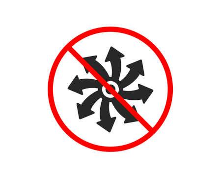 No or Stop. Versatile icon. Multifunction sign. Prohibited ban stop symbol. No versatile icon. Vector Illustration