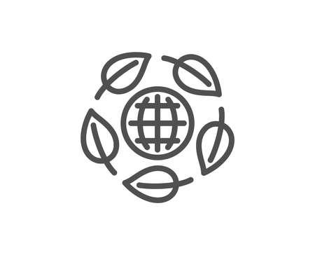 Eco organic line icon. Bio cosmetics sign. Fair trade symbol. Quality design element. Linear style eco organic icon. Editable stroke. Vector