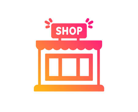 Shop icon. Store symbol. Shopping building sign. Classic flat style. Gradient shop icon. Vector Stockfoto - 123633583