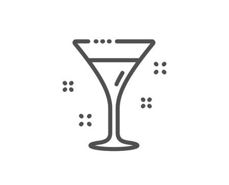 Cocktail glass line icon. Martini drink sign. Hotel service symbol. Quality design element. Linear style cocktail icon. Editable stroke. Vector