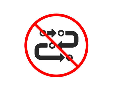 No or Stop. Methodology icon. Development process sign. Strategy symbol. Prohibited ban stop symbol. No methodology icon. Vector