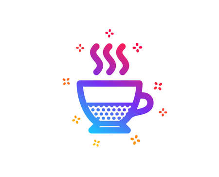Doppio coffee icon. Hot drink sign. Beverage symbol. Dynamic shapes. Gradient design doppio icon. Classic style. Vector Illustration