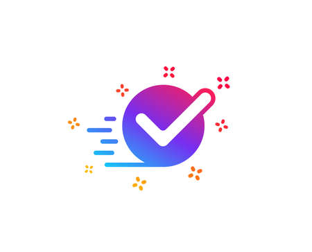 Approved icon. Accepted or confirmed sign. Dynamic shapes. Gradient design checkbox icon. Classic style. Vector
