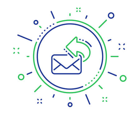 Share mail line icon. New newsletter sign. Phone E-mail symbol. Quality design elements. Technology share mail button. Editable stroke. Vector Illustration