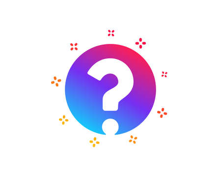 Question mark icon. Support help sign. FAQ symbol. Dynamic shapes. Gradient design question mark icon. Classic style. Vector
