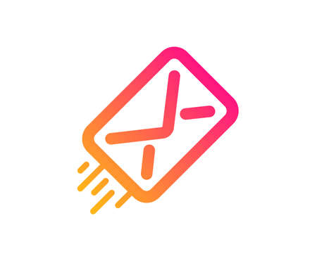 Mail delivery icon. Message correspondence sign. E-mail symbol. Classic flat style. Gradient e-mail icon. Vector