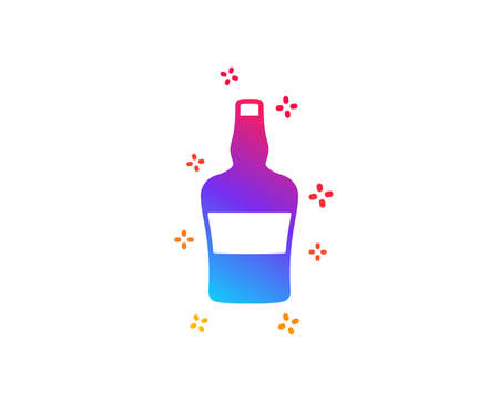 bottle icon. Brandy alcohol sign. Dynamic shapes. Gradient design bottle icon. Classic style. Vector